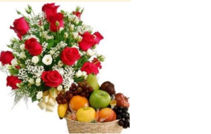 fruit flower arrangement